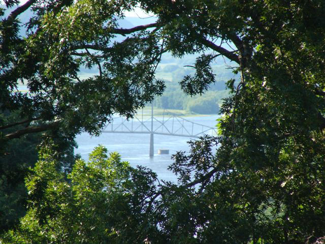 A view of the Lansing bridge from Eagle Ridge
