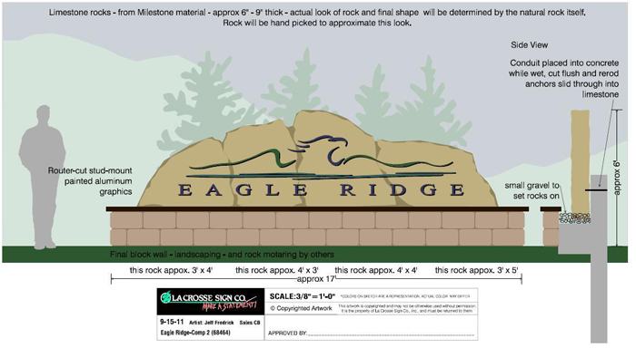 Eagle Ridge Land Company sign