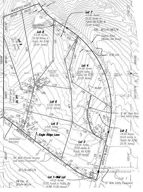 Plat of Eagle Ridge Country & Rivever Estates